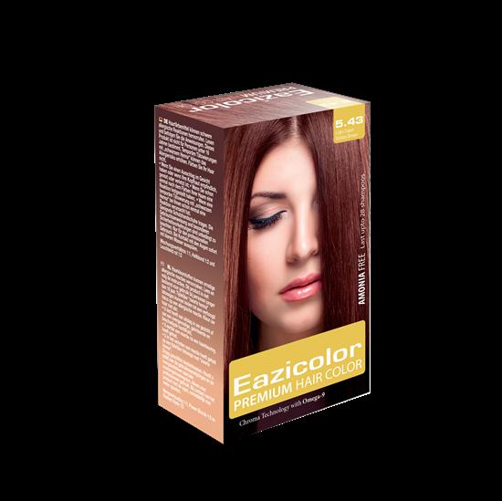 Picture of EaziColor Women Kit 5.43 L.Copper Golden Brown 60ML