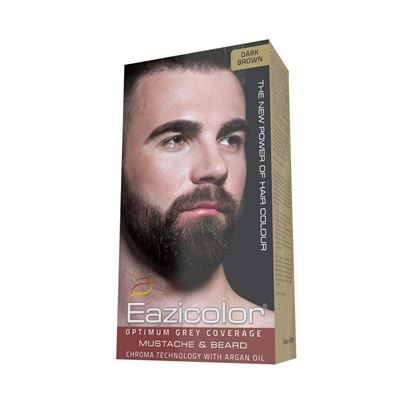 Picture of Eazicolor For Men Mustache & Beard Dark Brown (3.0)