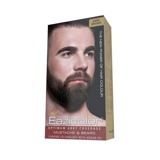 Picture of Eazicolor For Men Mustache & Beard Dark Brown (3.0)