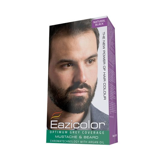 Picture of Eazicolor For Men Mustache & Beard Black (1.0)