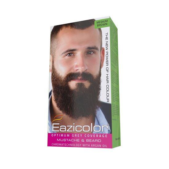 Picture of Eazicolor For Men Mustache & Beard Medium Brown (4.0)